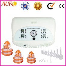 Free Shipping + 100% Guarantee!!! 6802 Portable Vacuum Breast Enlargement, Breast Nipple Enhancer Machine with 6 Cups for Spa