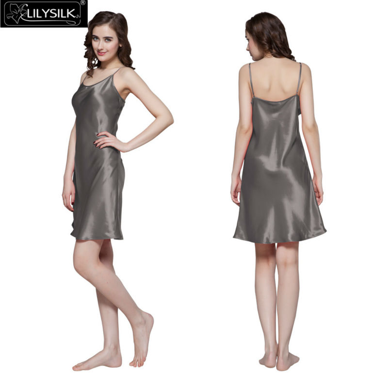 1000-dark-gray-22-momme-short-feminine-silk-nightgown -