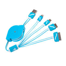 Retractable USB 3.0 8Pin Micro USB 4in1 Multi Charger Cable for iphone 4 4s 5s 6 Android HTC Samsung Sony Huawei