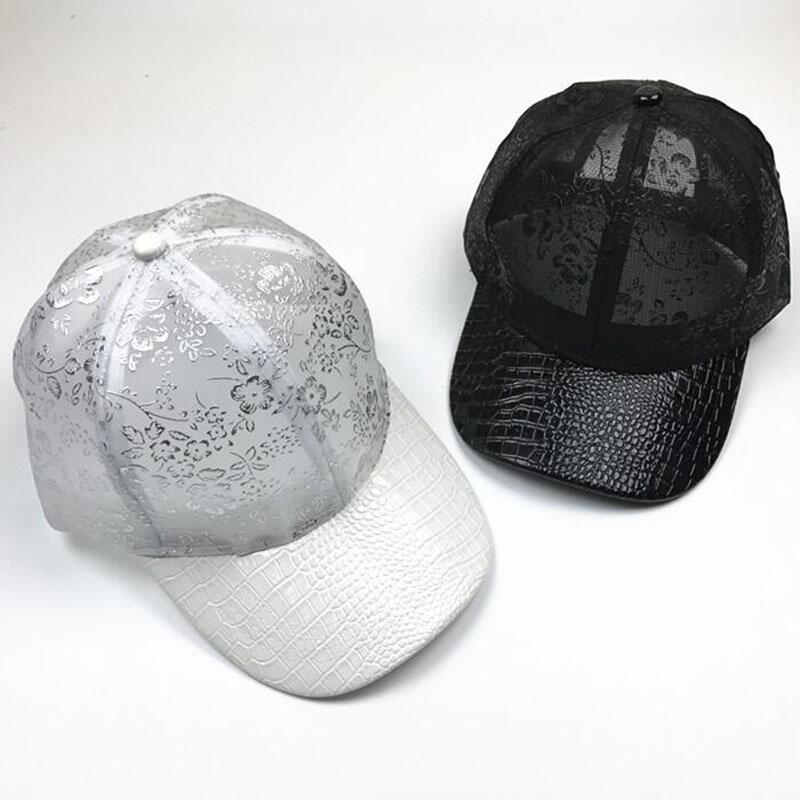 2017summer Women's Crocodile skin Baseball Caps Lace Sun Hats Breathable Mesh Hat Gorras Summer Cap For Women Snapback Casquette [flb] wholesale baseball caps trucker summer female snapback hats for women men mesh cap fitted sun hat casquette gorras