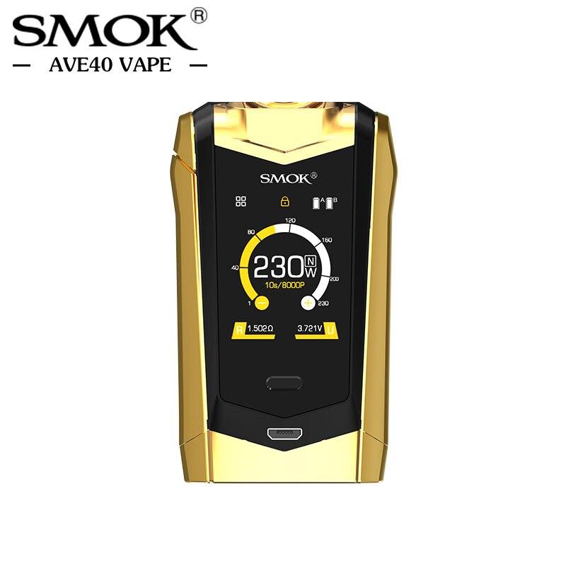Pré-vente Électronique Cigarettes Mods Smok ESPÈCES Mod 230 w Double 18650 Batterie TC Boîte Mod 510 fil Vaporisateur VS Vaporesso Mod - 4