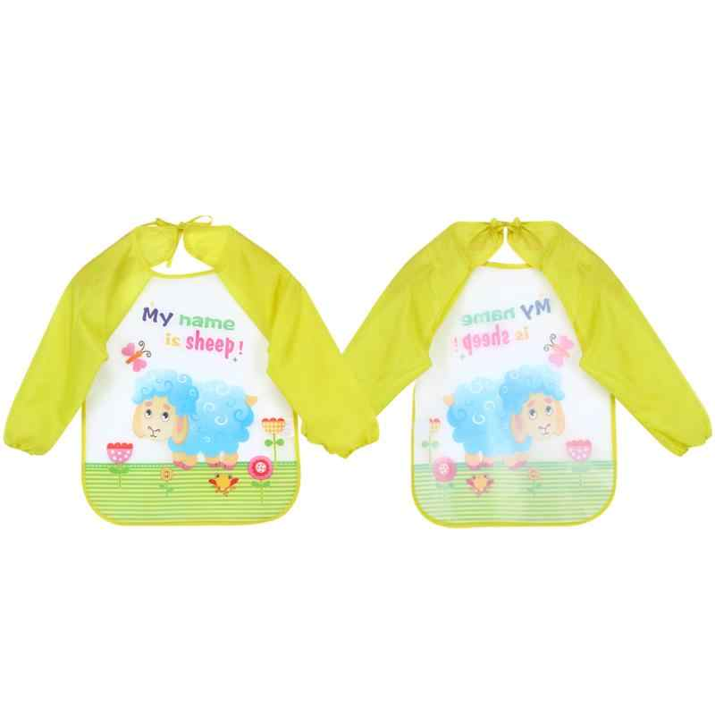 Бутылочка для кормления ребенка нагрудники для детей хлопковая ткань с длинным рукавом непромокаемое покрытие для малышей и детей постарше Слюнявчики для кормления, Пляжное платье, ужин еды аксессуар