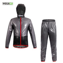 WOSAWE Raincoat Cycling Jacket Waterproof Windproof Outerwear Running MTB Bike Bicycle Rain Jackets Jersey Cycling Clothing(China)