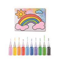20x17cm Kids DIY Sand Painting Toy Children Drawing Board Sets Handmade Picture Paper Craft Sand Draw Art