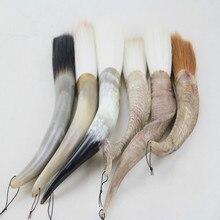 Ультра большой ласка волос Китайская ручка-кисть для каллиграфии бык рога Ручка Хоппер-образная кисть длинное ведро Ручка фестиваль Couplets