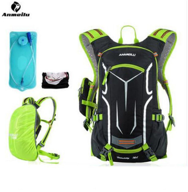 ANMEILU 18L Waterproof Sports Bag Breathable Cycling Bicycle Bike Shoulder Backpack Outdoor Travel Water Bag With Rain Cover