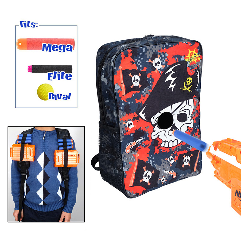 Liplasting Large Carry Backpack Storage Bag Target Pouch Equipment Bag For Nerf Accessories