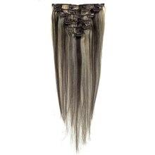 Best Sale Women Human Hair Clip In Hair Extensions 7pcs 70g 20inch Dark-brown + Gold-brown