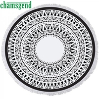 Print Round Blanket Hippie Tapestry Yoga Mat Swim Pool Home Shower Beach Towel Women Fitness Mat