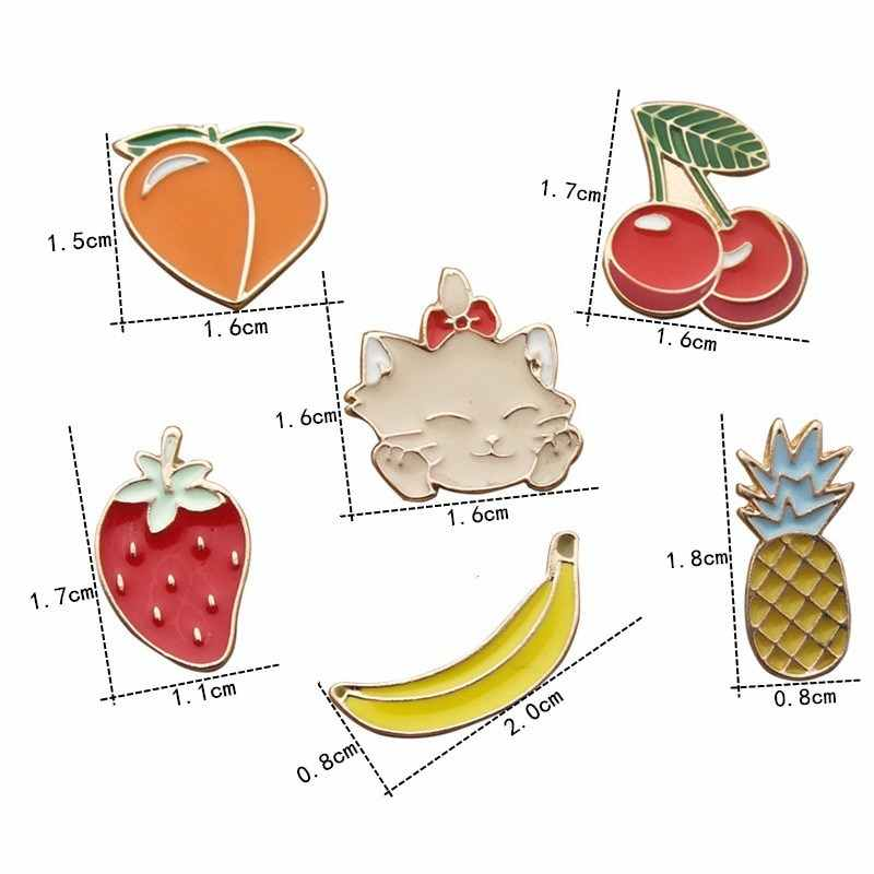 Urijk 2 шт. Металлические Значки на рюкзак значки посылка Сумки джинсы DIY Craft декоративные фрукты Броши Булавки для одежда