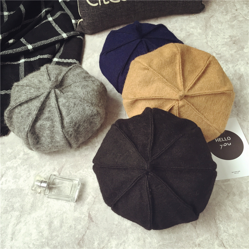 Winter Hat Berets Wool Cashmere Women Warm Brand Casual High Quality Women's Vogue Knitted Hats for Girls Cap