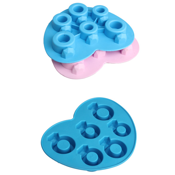 Random Color Hot Selling Ice Tray Rhinestone Love Ring Ice Cube Style Freeze Ice Mold Ice Maker Mould E2shopping