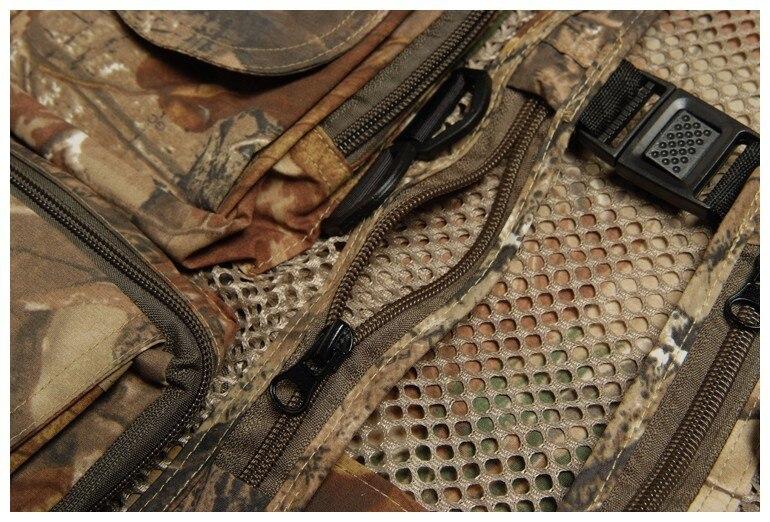 Sem Mangas Colete Camo Camuflagem Multi-bolsos Coletes Salva-vidas