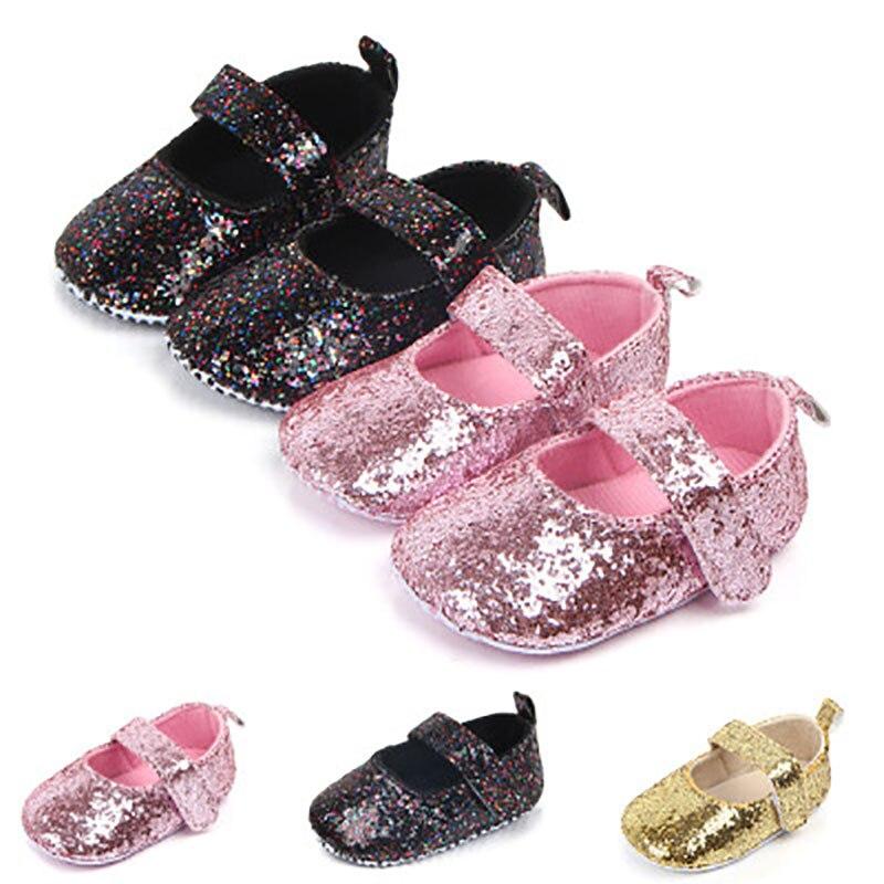 Купить с кэшбэком Baby First Walkers Shoes Cute PU Leather Girl Shoes Slippers Footwear Soft Soled Sneakers