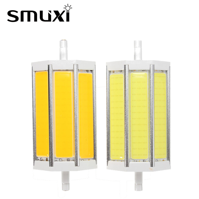 Smuxi Dimmable 10/15/20/25W R7S COB SMD LED Floodlight Spot Corn Light Bulb Lamp Pure Warm White 78/118/135/189mm AC85-265V lo 250137к