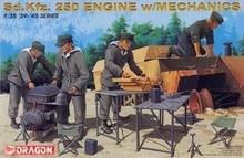 Dragon Sd Kfz 250 Engine w mechanics 1 35 scale 39 45 series 6112 model kit