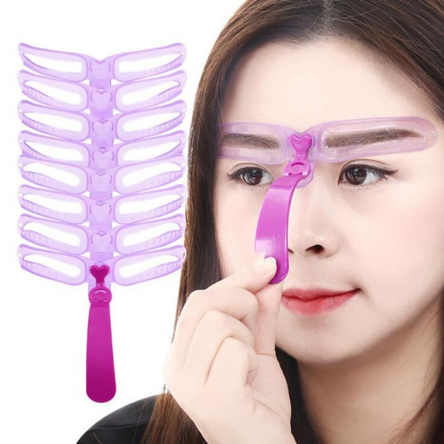 Reusable Eyebrow Model Template Eyebrow Shaper Defining Stencils Makeup Shaper Set Template Tools 1