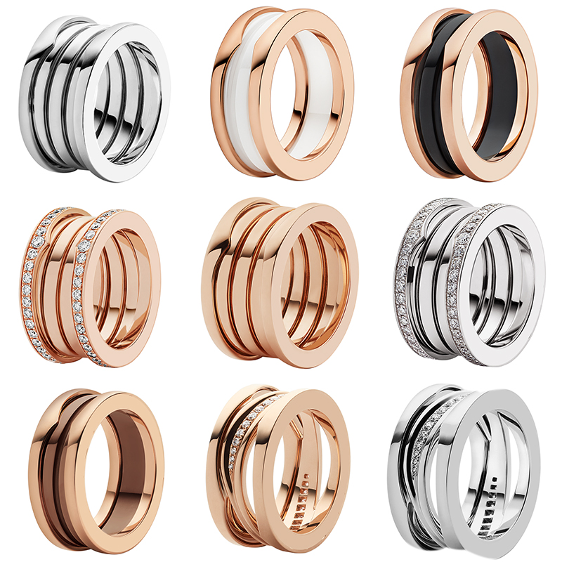 JEM 925 Sterling Silver Ring, High Quality Fit Bulgaria Ceramic Spring Roman Style Ring, Fashion Ladies Couples Jewelry