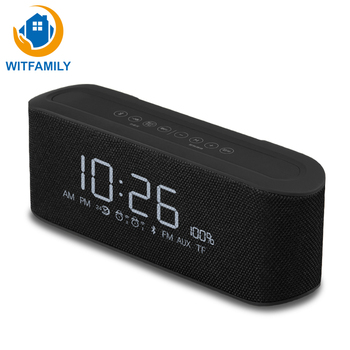 Can Used As A Radio Wireless Bluetooth Speaker Digital Alarm Clock Mini Stereo Mobile Phone Car Subwoofer Calendar Thermometer