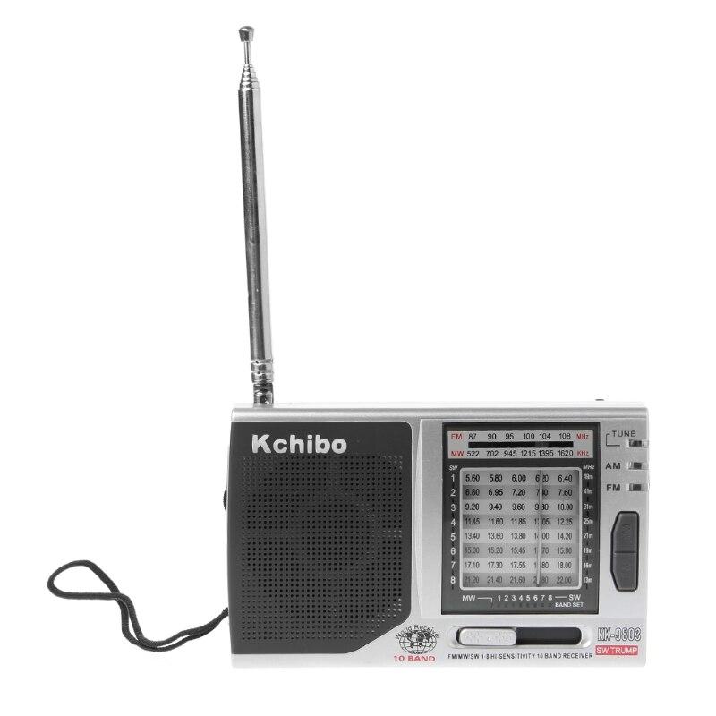 Radio Kk-9803 Fm/mw/sw1-8 Volle 10 Band Hallo-empfindlichkeit Radio Empfänger Mit Klapp Ständer Tragbares Audio & Video
