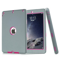For ipad 5 Amor Shockproof Heavy Duty Rubber&Plastic Case Cover For Apple iPad Air / iPad 5(2013) Tablet Accessories KF214A