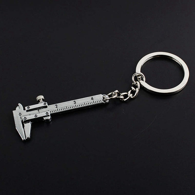 Mini Vernier Caliper Key Ring Car Styling Accessories for vw mazda audi BMW Toyota Opel etc Keychain automobile Turbo key chains