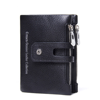 Genuine Leather Short Wallet Bags and Wallets Best Seller Hot Promotions Women's Wallets Color: Black Ships From: China
