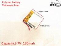 10 개 3.7 볼트 120 미리암페르하우어 302323 리튬 폴리머 리튬 포 충전식 배터리 Mp3 MP4 MP5 GPS PSP 블루투스 헤드폰 전자