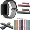 2016 nuevo colorida tejida tela de nylon venda de reloj para apple watch-como la sensación de correa para la muñeca con adaptador de metal para iwatch 38mm/42mm