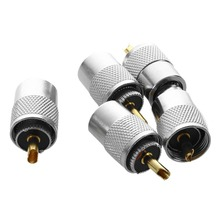 5 pcs UHF PL259 Plug Solder Connector for RG8 with REDUCER RG8X Included
