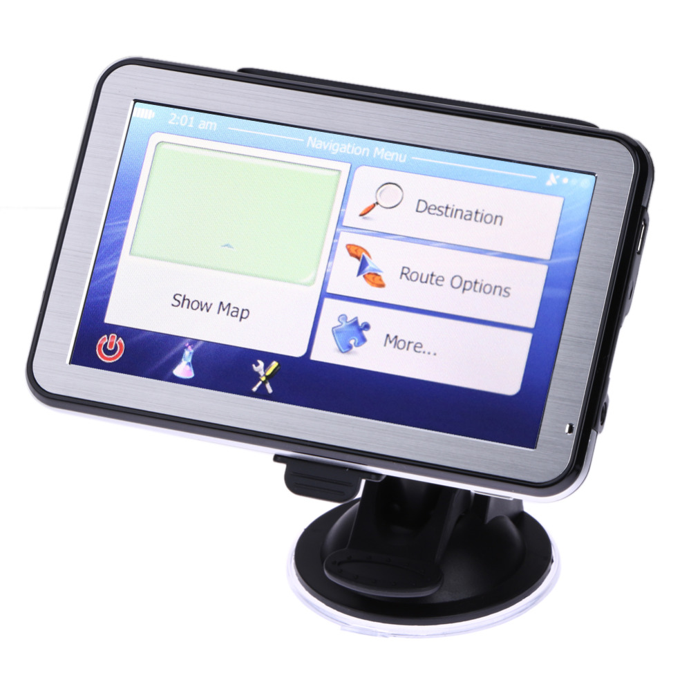 5 Inch Touch Screen Car GPS Navigator FM Transmitter MP3 ...