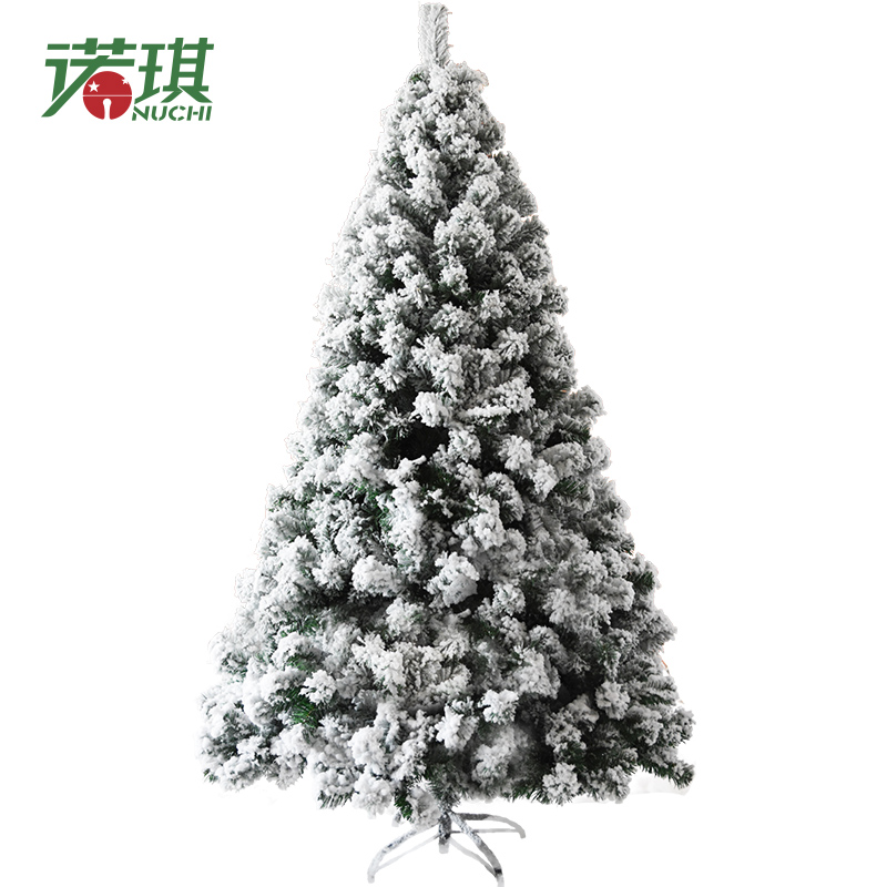 NUCHI 90CM/1.2M/1.5M/1.8M/2.1M/2.4M Artificial Christmas Tree Flocking Christmas Tree Christmas House Home Furnishi