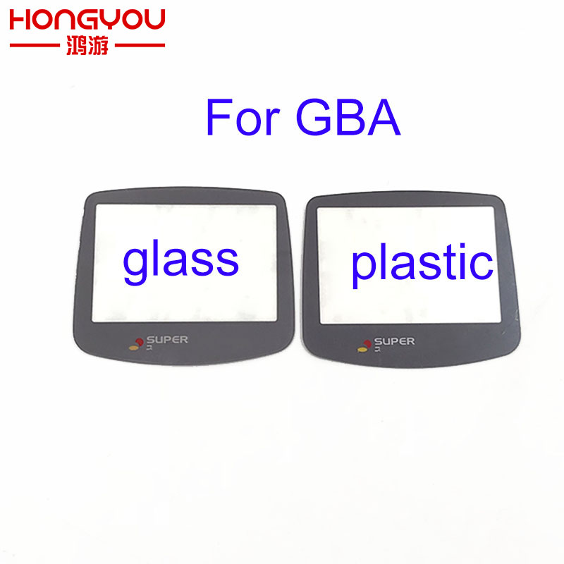 2pcs Plastic Glass Lens For SUPER FAMICOM GBA Screen Glass Lens For Gameboy Advance Color Lens Protector W/ Adhensive