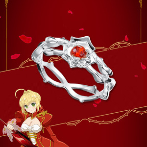 Image 3 - [Fate EXTRA]Nero Anime 925 sterling silver Ring Extella Link CCC Red Saber Hakuno Kishinami Action Figure Fate Grand Order fgo