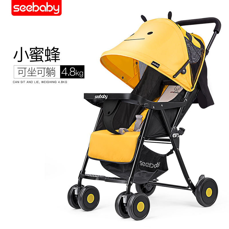 Seebaby ultra-light baby stroller can sit and lay foldable stroller twin strollerSeebaby ultra-light baby stroller can sit and lay foldable stroller twin stroller