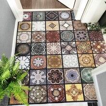 Cor tijolo padrão pvc estiramento fio loop tapete de porta personalizar tapete de entrada impermeável antiderrapante banheiro tapete ao ar livre