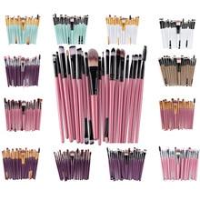Brand 20pcs Beauty Bamboo Professional Makeup Brushes Set Make up Brush Tools kit Eye Shader Liner Crease Definer Buffer 22color