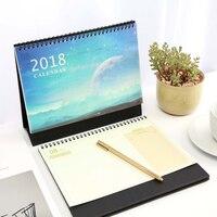 1 шт./компл. Творческий 2018 год календарь синяя планета стол бумага календарь Еженедельный планировщик организатор, чтобы сделать Memo список д...