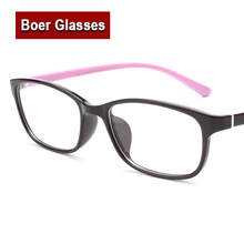 2017 new TR90 light weight full rim mens eye glasses rectangle frame womens eyewear myopia eyeglasses Rxable S3052
