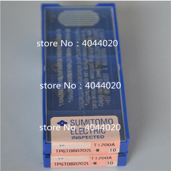 TPGT080202L-W T1200A 10pcs/box New original cutting tool carbide insert for CNC