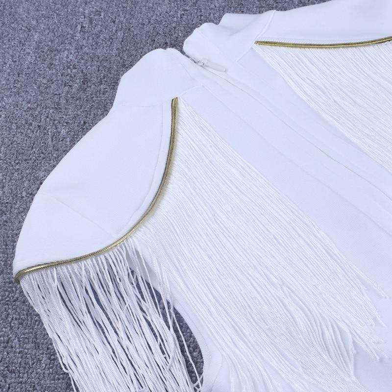 White discount Embellished Vestidos 13