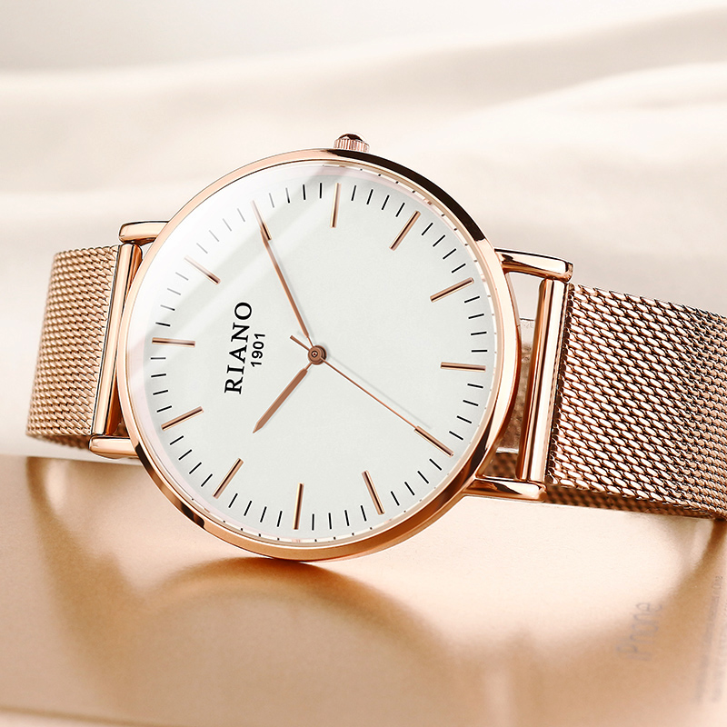 Women's Watches 2019 Ultra Thin Rose Gold Wrist Watch Ladies Dress Clock Milan Mesh Strap Xfcs Female Quartz Wristwatch Top Hour