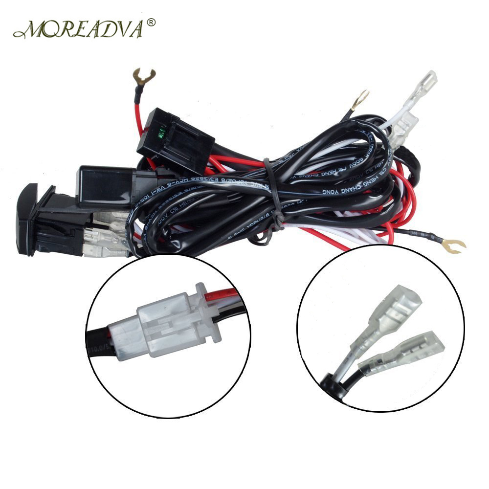 Light Wiring Loom Harness 12v 40a Switch Relay Driving Light Off Road