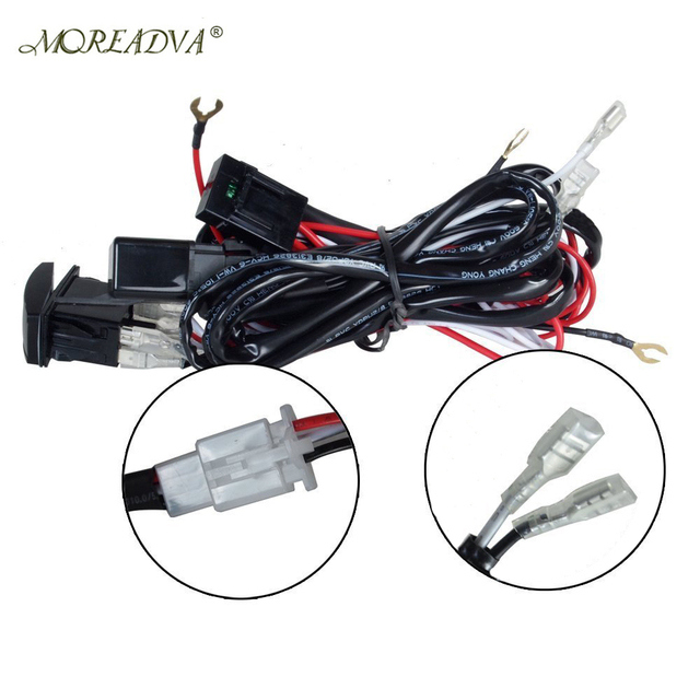 Wiring Harness Kit Loom For LED Work Driving Light Bar With Fuse Relay 12V 40A_640x640 aliexpress com buy wiring harness kit loom for led work driving led light bar wiring harness with rocker switch at honlapkeszites.co