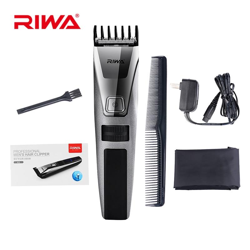 Riwa K3 100-240V Rechargable Hair Clipper Men LCD Dispaly Electric Hair Cutting Nose Ear Trimmer Shaver Machine Cutter Hair