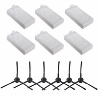 12 Accessories Replacement Parts Compatible ILIFE V3s V5 V5s pro Robot Vacuum Cleaner Filters Side Brushes(Left+Right)