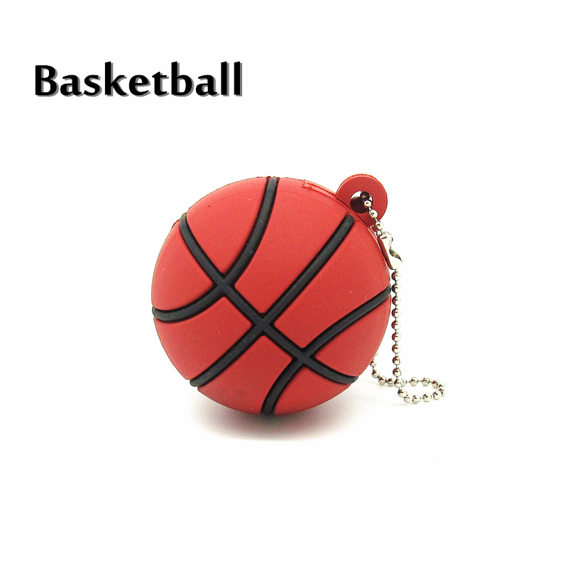 Esportes com bola de tênis de basquete de futebol dos desenhos animados  unidade flash usb silicone pendrive dispositivo de armazenamento Pen drive  4g 8g 16g ... 8f9965e3668bf