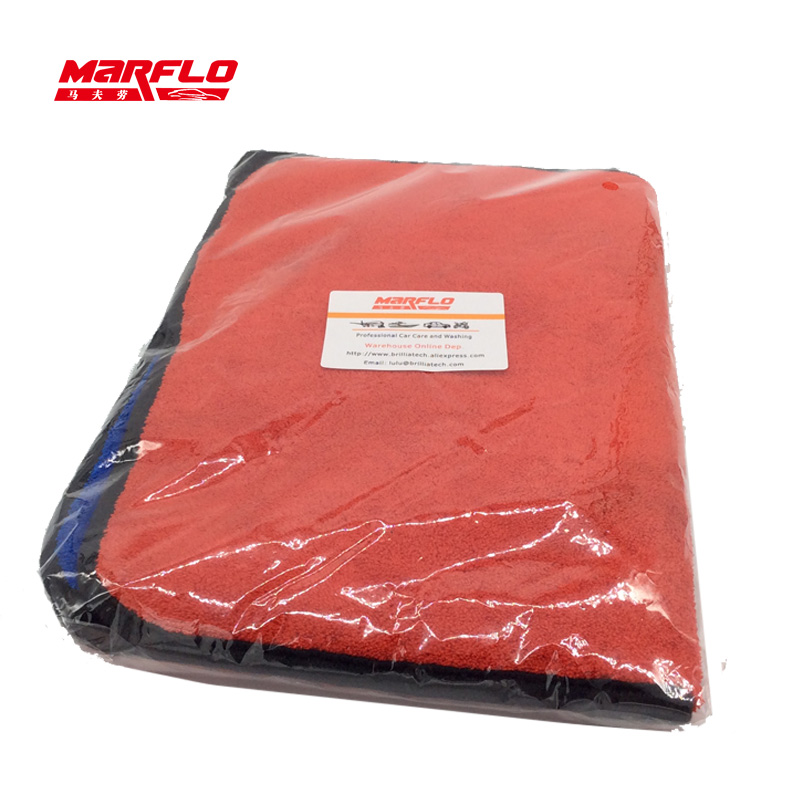 Microfiber Towel Cloth 1000gsm Car Care Wash Blue Red 2pcs in one polybag 2pcs blue