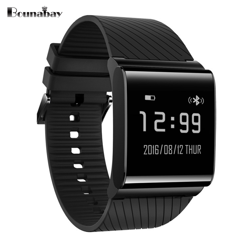 BOUNABAY Heart Rate Monitor Smart watch man Bluetooth Watches Men Clock for apple Android ios phone wifi automatic men's Clocks hot sale newest waterproof bluetooth smart watch for apple android phone high quality smart health heart rate monitor wearable