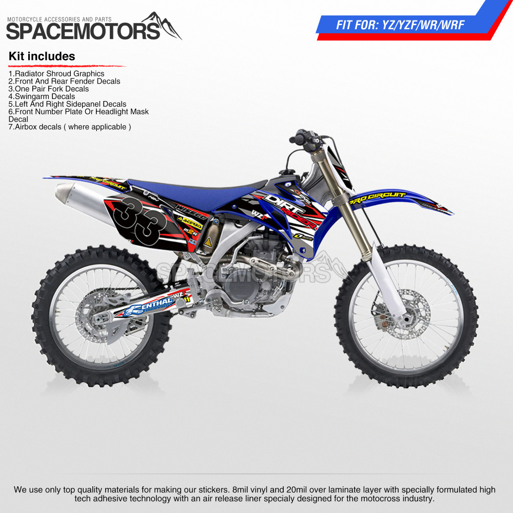 WRF250 Swingarm Airbox Decals Sticker WRF 250 Dirtbike Racing MX graphics atv